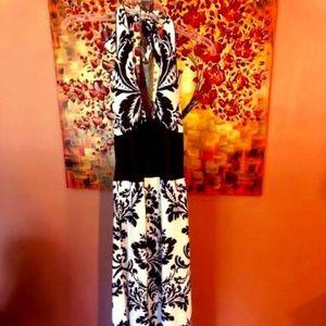 White House Black Market Maxi Halter Dress